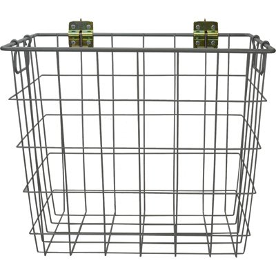 CargoSmart Large Wire Track Basket - 20in.W x 12in.D x 18in.H, Coated Steel, For E-Track and X-Track