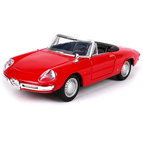 GreenSun 1:32 ALFA Romeo Spider Vintage car Retro Classic Car Diecast Model Car Toy in Box