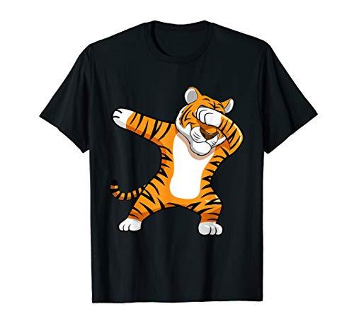 BDAZ Dabbing Tiger Football Team Mascot Funny Dab T-Shirt