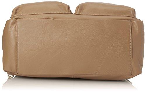 et véritable 100 d'épaule Fango 36x26x15cm Sac main Made CTM cuir in Italy à femme en la à Gris qtpw7Pg