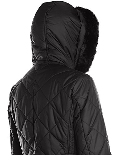 Bib Hood Black Diamond Quilted 3 4 LEVINE LARRY with Women's Trimmed and Ff PnW7HX0p
