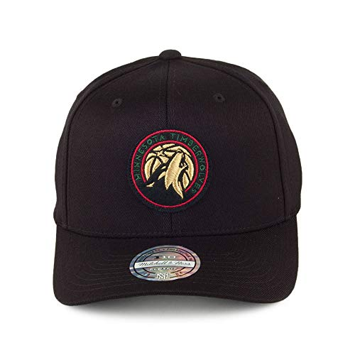 Mitchell   Ness Minnesota Timberwolves INTL236 NBA Luxe 110 Curved Snapback  Cap Black Flexfit One Size  Amazon.es  Ropa y accesorios 6d7a8ce10a8