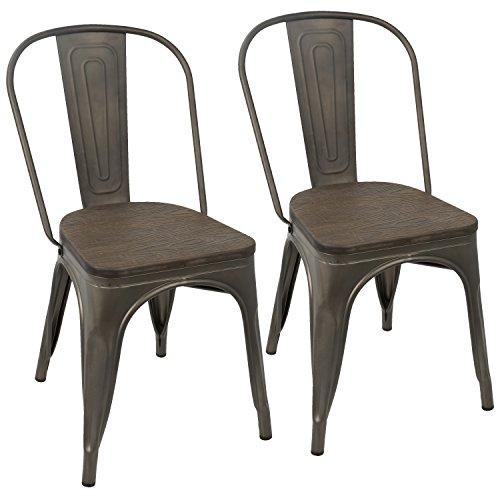 WOYBR DC-TW-OR DKESP2 Steel, Bamboo Oregon Dining Chair (Set of 2), 20