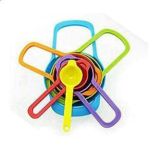 طقم ملاعق معيار بلاستيك مقاسات مختلفة 6 قطع