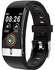 Smartwatch 1,08 tums vattentät Bluetooth Smart Watch Activity Tracker hjärtfrekvens kalorimätare Män och kvinnor Fitness Smart Watch för iOS och Android