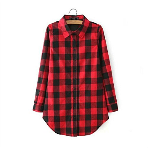 Womens Checked Long