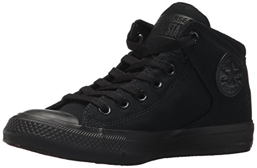 Converse Men's Street Tonal Canvas High Top Shoe, Black/Black/Black, 11 M US