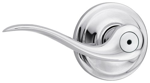 Kwikset Tustin Bed/Bath Lever in Polished Chrome (Kwikset Lever Handles)