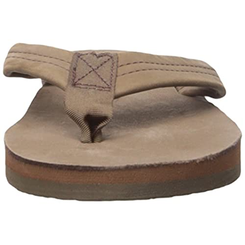 d16c6bed3151 Rainbow Sandals 301ALTS Womens Single Layer Premier Leather Expresso Leather  Small   5.5-6.5 B