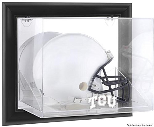 NCAA - TCU Horned Frogs Framed Wall Mountable Helmet Display Case by Sports Memorabilia