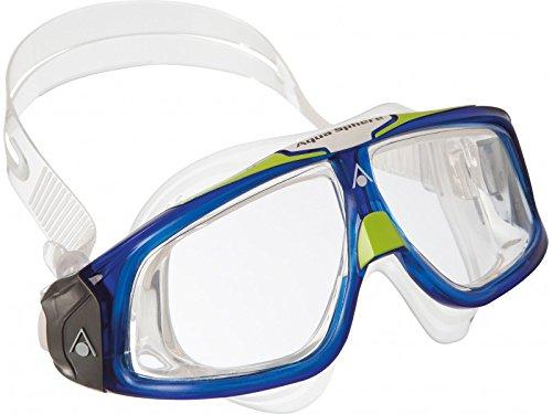 Aqua Sphere Seal 2.0Bain Masque Masque–Verre transparent–Bleu/Vert Citron