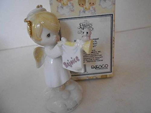 Precious Moments Musical Ornament - Angel With Trumpet - Plays Silent Night #340316