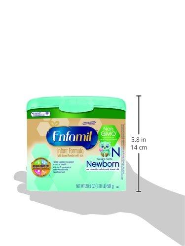 Enfamil Newborn Non-GMO Baby Formula, 20.5 Oz. Tub (Pack of 4)