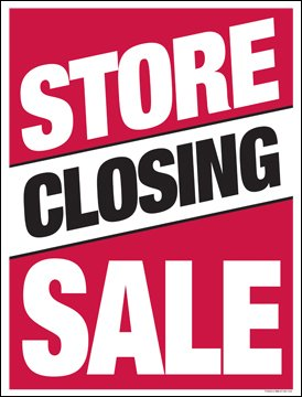 Amazon.com: Tienda cierre venta ventana venta cartel ...