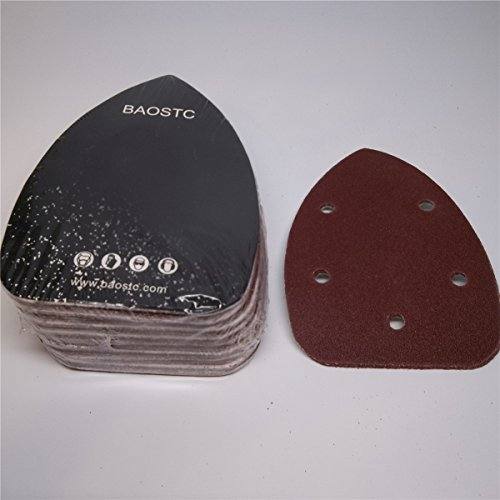 Buy Bargain BAOSTC 3-3/45-1/2 P80 Palm sanding disc for BLACK&DECKER mouse sander 50PACK
