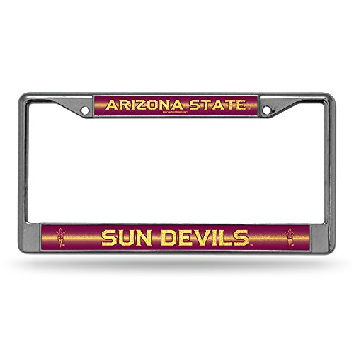 NCAA Glitter Bling Chrome Plate - Glitter Sun