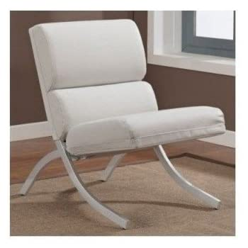 white leather occasional chair amazon com white bonded leather accent chair kitchen 22000 | 41Asjjz14nL. SL500 AC SS350