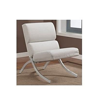 Marvelous White Bonded Leather Accent Chair Machost Co Dining Chair Design Ideas Machostcouk