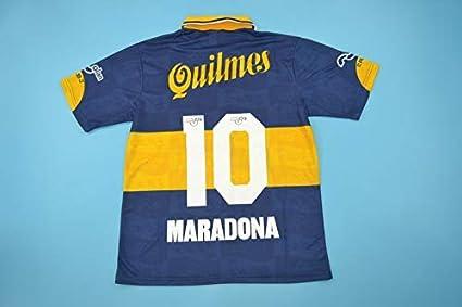 Retro Maradona#10 Boca Juniors Home Soccer Jersey 1995 1996