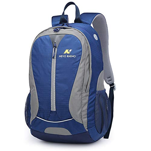 N NEVO RHINO Travel Laptop Backpack Multipurpose Casual Daypacks, 30L Lightweight Breathable Nylon Waterproof Backpack, Hiking Campus Outdoor Sports Recreation Backpack for Student Kids Men and Women