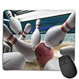 Non-Slip Mouse Pad Rubber Mousepad Bowling Ball Print Gaming Mouse Pad 18 * 22 cm