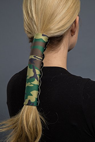 Hair Glove Neoprene Camo Pony Tail Holder (8 Inch)