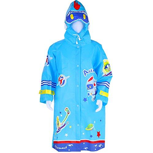 Kids Umbrella, Blue Raincoat w/ Sleeve, Lightweight Poncho, Windproof Waterproof Hooded Slicker, Rain Coat, Jacket, Hoodie Outwear, Wear for 3, 4, 5, 6, 7 Year Olds Boys Girls Child - - Take What You Camping Do