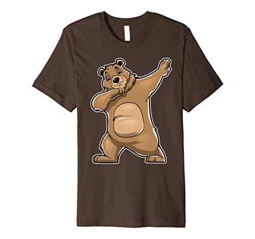 Mens Bear Dabbing T Shirt Bears Dab Dance Gifts Men Women Kids 2XL Brown
