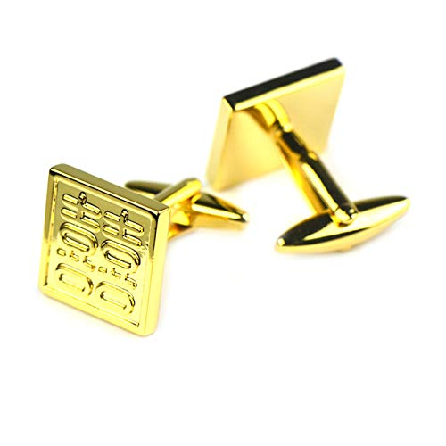 Aooaz Cufflinks Square Double Happiness Cufflinks Woman Gold Double Happiness Gold Cufflinks