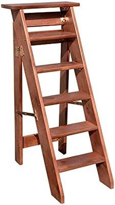 Taburete, 6 Escalera Manta Paso, Escalera De Madera Decorativa, Escalera De Edredón, Manta Escalera De Pino Rústico, Escalera De Madera Maciza Manta, Rústico Decoración Hogar Cálido (Color : A) : Amazon.es: Hogar