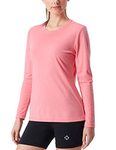 - NAVISKIN Women's UPF 50+ UV Sun Protection Performance Long Sleeve T-Shirt Lightweight Running Outdoor Shirt Pink Size XL