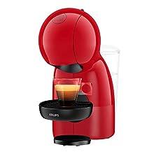 Krups NESCAFÉ Dolce Gusto Piccolo XS KP1A05KA - Máquina manual para café expreso y otras bebidas rojas, 1600 W, 0,8 litros, rojo