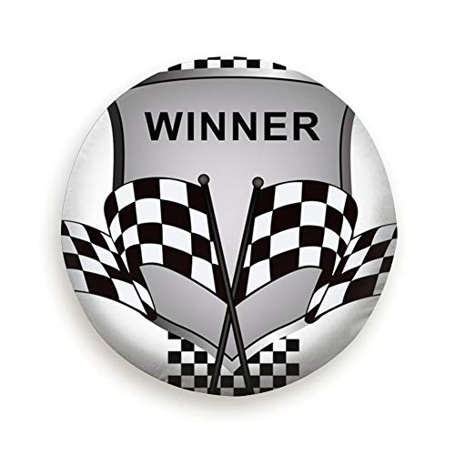 Tire Cover Winners Racing Clip Art Race Sports Recreation Polyester Universal Spare Wheel Tire Cover Wheel Covers Jeep Trailer Rv SUV Truck Camper Travel Trailer Accessories