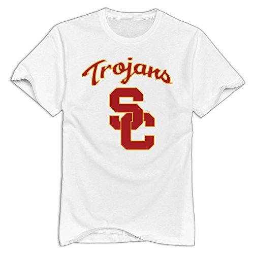 (GNJY Southern California City University Men's Short Sleeve T-Shirt White XXL)