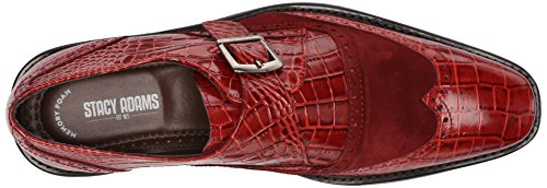 Stacy Adams Mens Arrico Mocassino Slip-on Rosso / Rosso Pelle Scamosciata