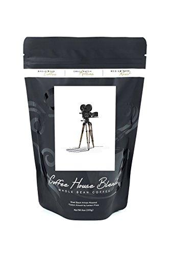 Movie Camera - Icon (8oz Whole Bean Small Batch Artisan Coffee - Bold & Strong Medium Dark Roast w/ Artwork) by Lantern Press
