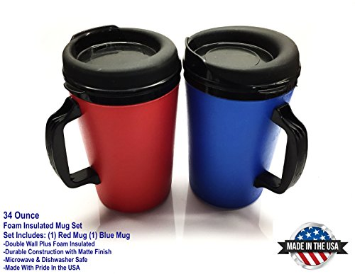 ThermoServ Foam Insulated Coffee Mugs