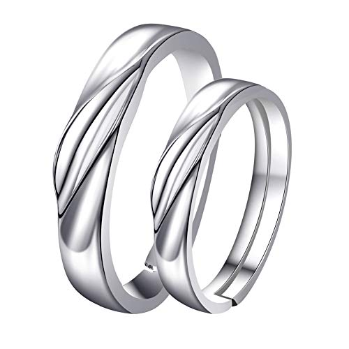 couple rings silver - 5