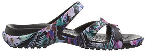 Crocs Womens Meleen Twist Graphic Sandalo Piatto Tropicale Floreale