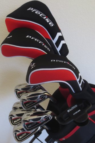 Tall Mens Golf Club Set Complete Driver, Fairway Wood, Hybrid, Irons, Sand Wedge, Putter & Stand Bag +1