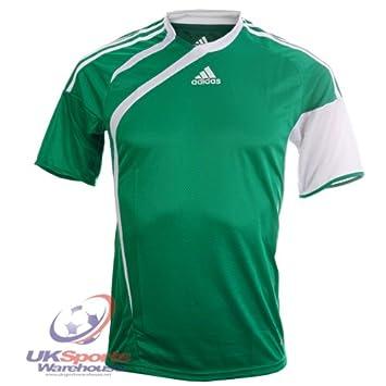 Adidas Tiro Climacool 365 de Manga Corta Camiseta de fútbol Jersey RRP £25 Verde/