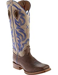 Twisted X Mens 16 Cream Buckaroo Cowboy Boot Square Toe - Mbkl012