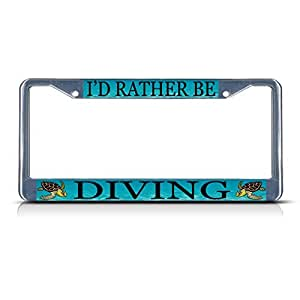 Amazon Com Lievon I D Rather Be Diving With Sea Turtle