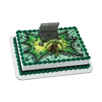 Hulk Smash Cake Topper Amazoncouk Toys Games