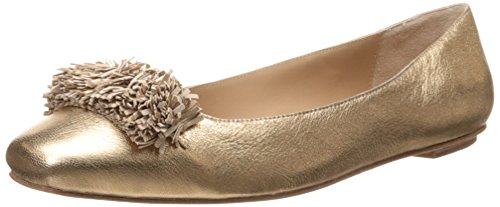 WM Washed Gold D Metallic Womens Light Ballet Frill Delman Flat tn17w080q
