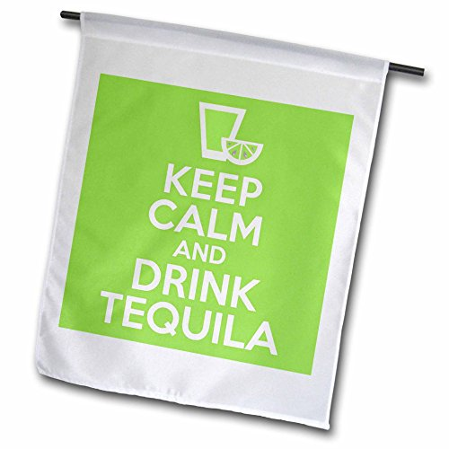 3dRose fl_193604_1 Keep Calm and Drink Tequila Garden Flag, 12 by 18-Inch (Tequila Rose Margarita)