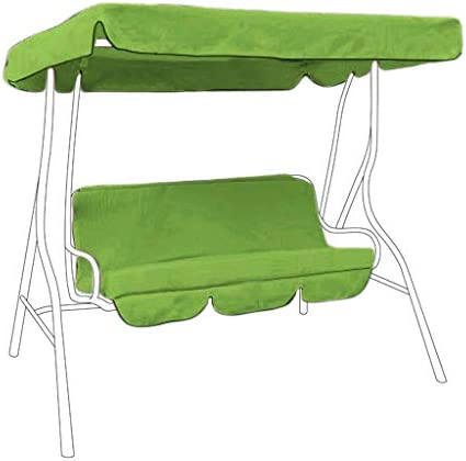 Water Resistant 2 Seater Replacement Canopy /& Seat Pad ONLY for Swing Seat//Garden Hammock in Lime Green