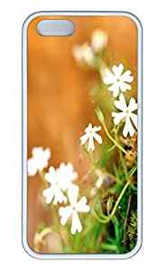 Brian114 5s Case, iPhone 5 5s Case - Soft Rubber White Spring Flowers 2 Protection Back Case for iPhone 5 5S