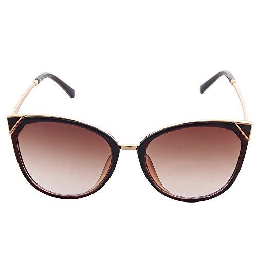 moderne uv400 soleil cateye de lunettes OGOBVCK Thé mode les Le miroir 0qwCaO