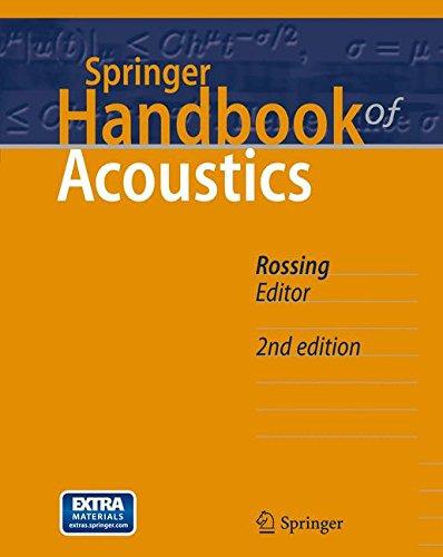 Springer Handbook of Acoustics (Springer Handbooks) by Springer
